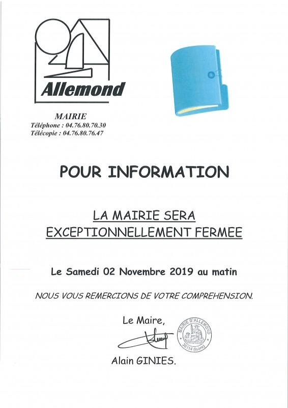 Samedi 02/11/2019 matin